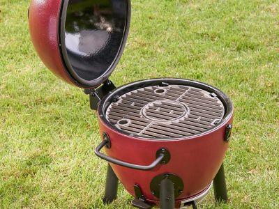This portable charcoal grill might be the ultimate tailgating accessory