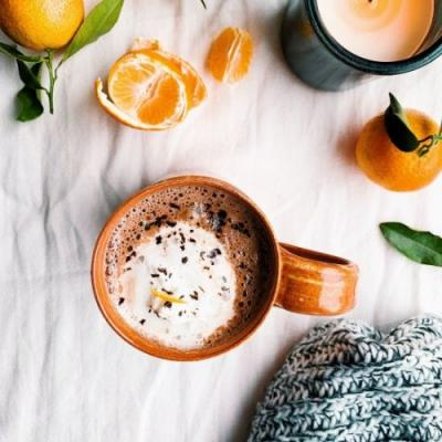 Healthy Orange Hot Chocolate