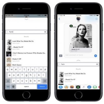 Spotify Introduces iMessage App With Search Function for Sharing Music With Friends