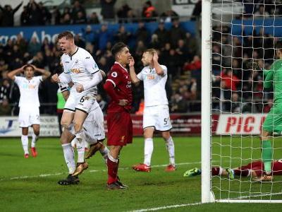 Liverpool loses to last-place Swansea in Premier League shock