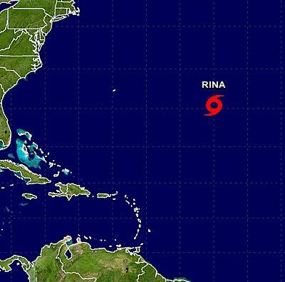 Tropical Storm Rina forms in Atlantic; no threat to land
