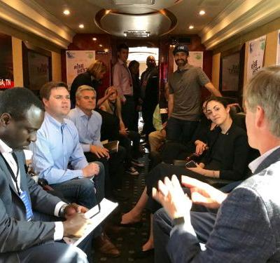Billionaire Steve Case has taken a big red bus through 26 states to bet $150 million on finding the next big startup - here's where he's looked so far