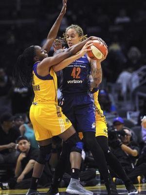 Sparks rally to beat Phoenix 79-66 in playoff opener