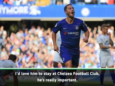 I'd love for Hazard to stay at Chelsea - Barkley