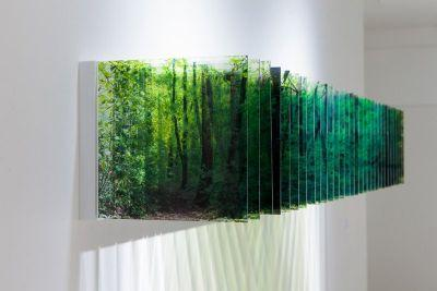 These Layers of Time Were Created by Arranging Photos on Acrylic