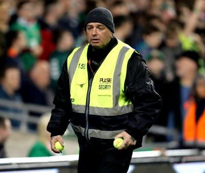 UEFA charges Ireland for tennis balls protest by fans