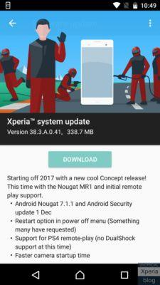 Android 7.1.1 Nougat Is Now Available For The Sony Xperia X