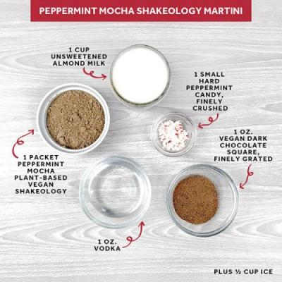 Peppermint Mocha Shakeology Martini
