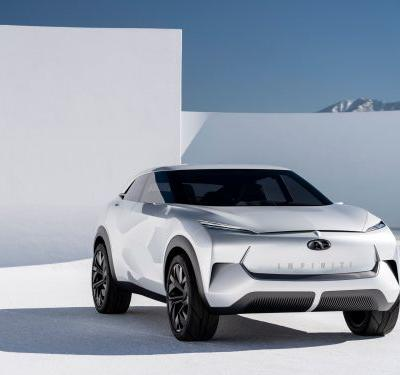 Infiniti just unveiled a striking electric SUV concept with Rolls-Royce-inspired coach doors and a marble interior trim