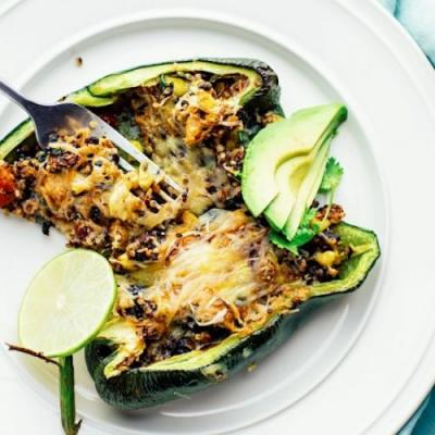 Southwest Stuffed Poblano Peppers