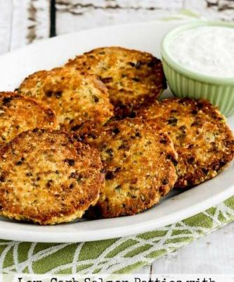 Low-Carb Salmon Patties with Double-Dill Tartar Sauce