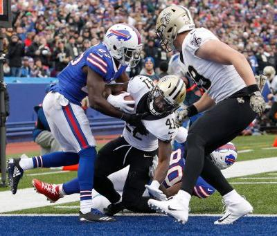 Bills defense trampled in 47-10 loss to Saints