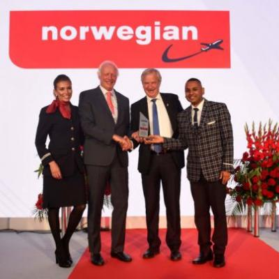 Norwegian named 'Airline of the Year' at 2017 CAPA Aviation Awards for Excellence