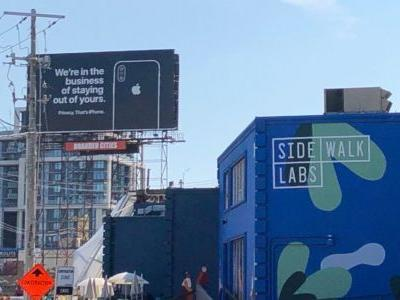 Apple debuts two new privacy-focused billboards, including one near a Google building