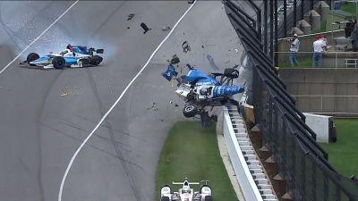 Watch: Scott Dixon knocked out of Indy 500 after frightening crash