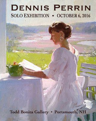 Dennis Perrin Solo Exhibition at my Portsmouth, NH Gallery, Thursday, October 6 2016