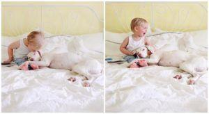 Formerly Neglected Rescue Dog Is Smitten With Her Human Baby Brother
