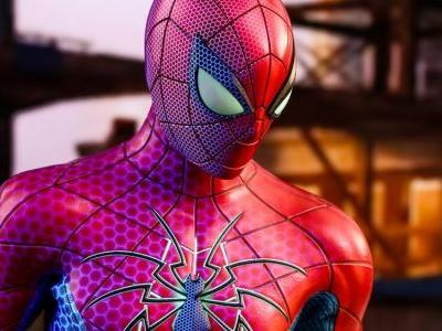 New SPIDER-MAN MK IV Spider Armor Suit Action Figure Swings Into Hot Toys!