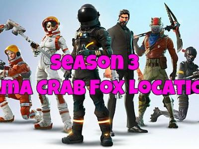 Fortnite Llama, Crab, and Fox Locations Guide