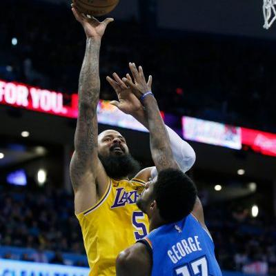 Kuzma scores 32 as Lakers top Thunder in OT without LeBron