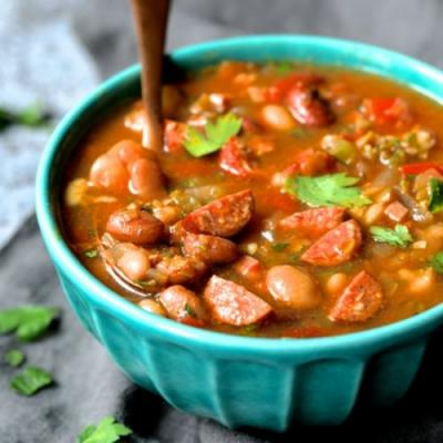 Slow Cooker Cajun 15-Bean Soup