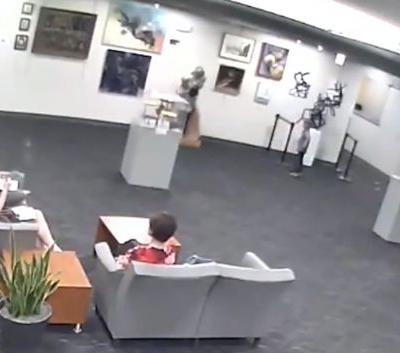 Family gets pricey bill after boy damages sculpture