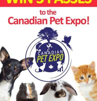 Win 3 Awesome Passes to Spring Canadian Pet Expo!