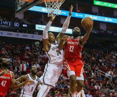James Harden pours in 58 points, but Nets rally to stun Rockets in overtime