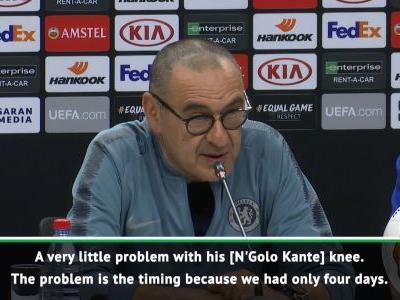 Sarri sweats on Kante fitness for final