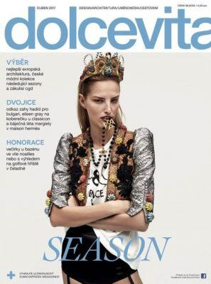 Michaela Kocianova in Dolce&Gabbana on the cover of Dolce