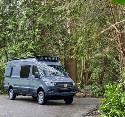 Nomad Vanz created a bespoke tiny home inside of a Mercedes-Benz Sprinter that's ready for backcountry trips - see inside