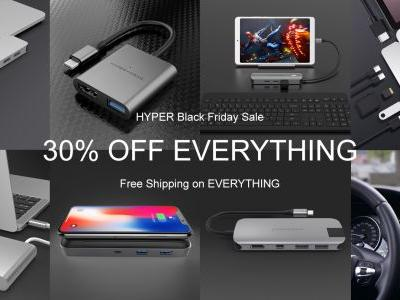 Get 30% off site wide + free shipping on all Hyper USB-C hubs & more for Black Friday