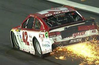 Sparks fly as Kyle Larson's night ends early in Coca-Cola 600