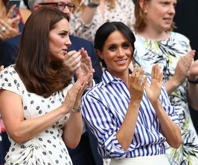 Photos of Meghan Markle & Kate Middleton At Wimbledon Are Sister-In-Law Goals
