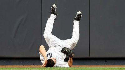 Yankees' Jacoby Ellsbury headed for 7-day concussion DL after slamming into wall
