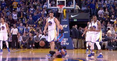 WATCH: Zaza Pachulia Takes Down Russell Westbrook