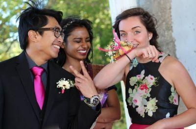 Heroic teens are wearing croissants instead or corsages to their proms