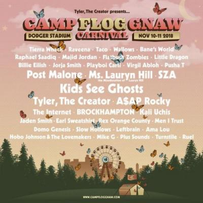 Kids See Ghosts, Post Malone, Lauryn Hill Playing Camp Flog Gnaw 2018