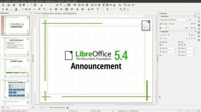 LibreOffice 5.4 released