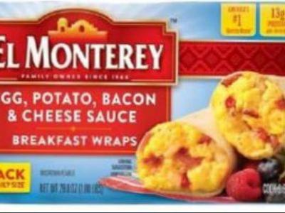 Over 246,000 pounds of breakfast wraps recalled because they may have small rocks