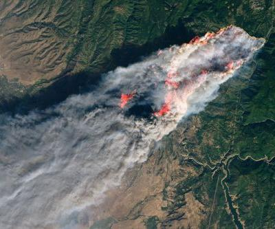 New satellite photos of California's wildfires show the furious, deadly evolution of the disasters from space