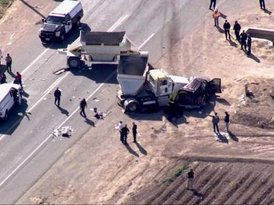 Hospital: Semitruck crashes with SUV carrying 25, killing 13 in Southern California