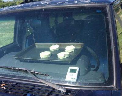 WATCH: National Weather Service attempts to cook biscuits inside car during heat wave