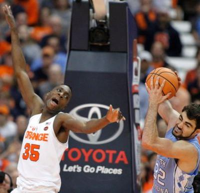 Pinson scores career-high 23, UNC holds off Syracuse 78-74