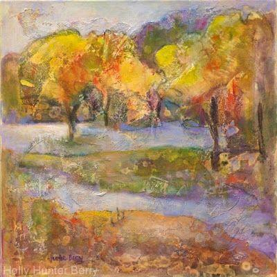 """Contemporary Abstract Landscape, Fine Art PRINT """"Restoration"""" by Passionate Purposeful Painter Holly Hunter Berry"""