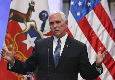 Pence on message, despite Trump's troubles at home