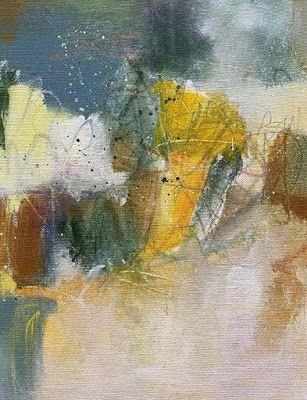 """Expressionism Art, Colorful Contemporary Painting, Abstract Art, """"Welcoming the Morning I"""" by Portland Contemporary Artist Liz Thoresen"""