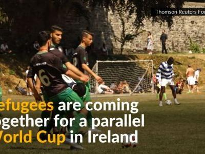 Ireland scores with refugee 'World Cup' soccer tournament