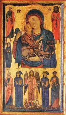 Madonnas attributed to Bonaventura Berlinghieri, Italian painter, active in mid-13th century