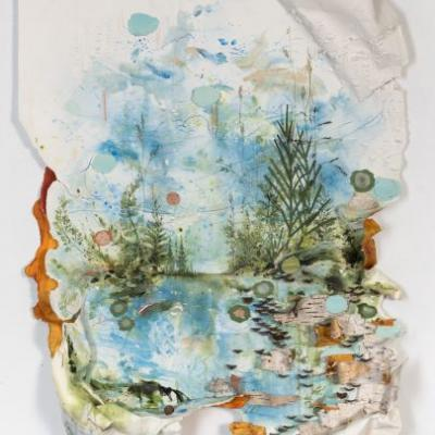 Mixed Media Works by Gregory Euclide Expose the Destructive Materials Used to Replicate Landscapes